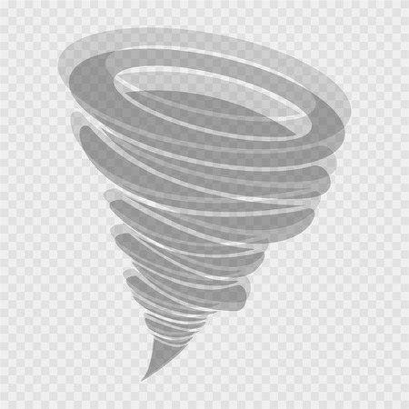 Whirlwind sign. Tornado. Hurricane. Hurricane - storm. Gray background. Vector illustration