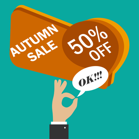 Sale tag, discount sign. 50 percentage sign. Vector illustration