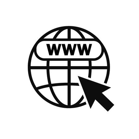 Internet icon. Internet symbol. Wireless technology. Vector illustration