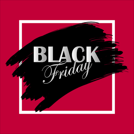 Black Friday. Special offers. Sale. Discount. Design template. Vector illustration