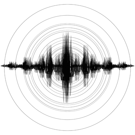 Erdbeben. Richter Erdbeben Magnitudenskala. Vektor-Illustration