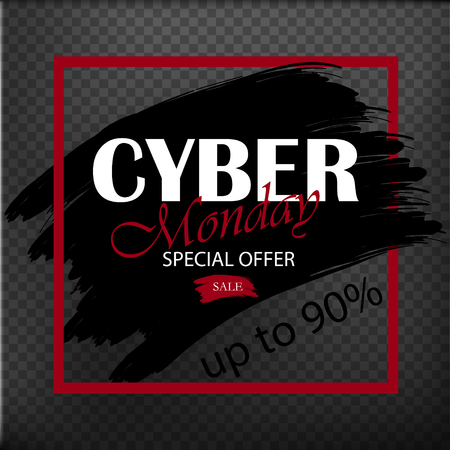 Cyber Monday. Special offers. Sale. Discount. Design template. Vector illustration Vectores