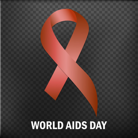 World Aids Day. Aids Awareness ribbon. The 1st December. Vector illustration