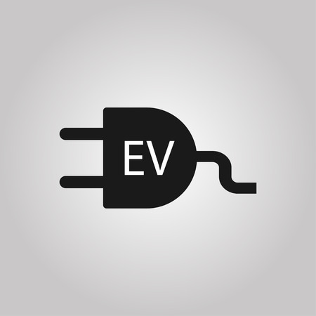 Electric vehicle charging station. Electric car, electric vehicle. Charging station. Vector illustration