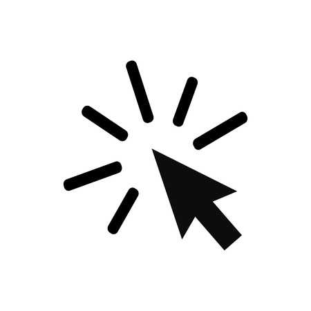 Pointer, arrow signs. Computer mouse. White background. Vector illustration