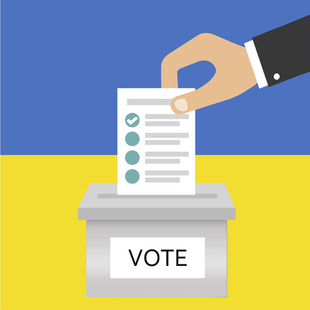Presidential Election in Ukraine. Voting. Ballot box. Candidate elections. Presidential elections. Do the choice. Vector illustration Illustration