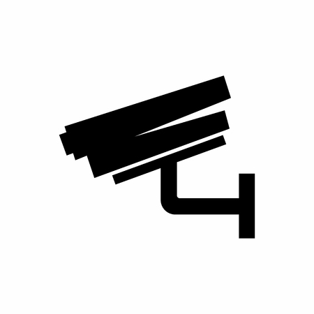 Surveillance camera. Security equipment and security guard. Vector illustration Imagens - 122008501