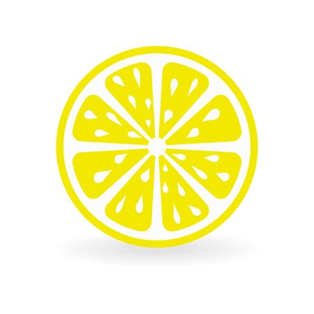 Fresh and juicy lemon on white background. Vector illustration