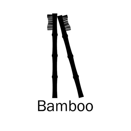 Brosse à dents en bambou. Brosse à dents en bambou 3d réaliste. Zero gaspillage. Sauvez le monde sans plastique. Illustration vectorielle Vecteurs
