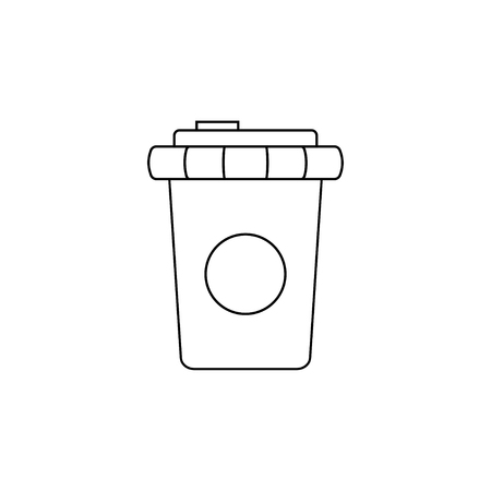 Disposable plastic cup. Pollution problem. Environmental Protection. Vector illustration