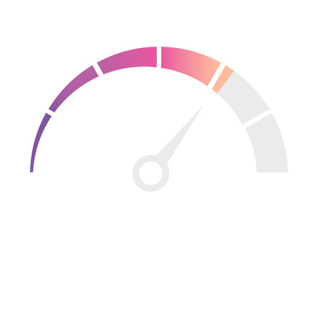 Speedometer, tachometer, indicator icons. Performance measurement. White background. Vector illustration