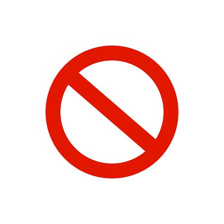 Circle warning sign, symbol. White background. Vector illustration