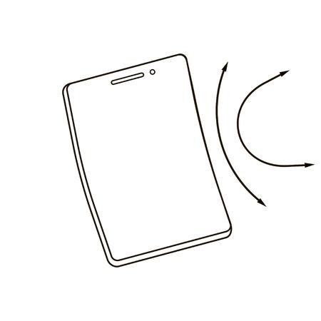 Modern flexible smart phone of new generation. Modern design. Vector illustration