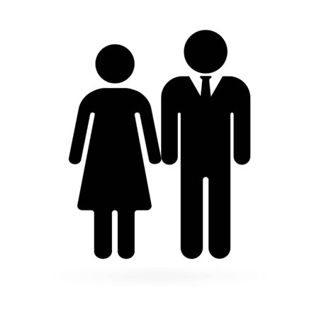 Senior couple are walking. Senior men and women. Vector illustration