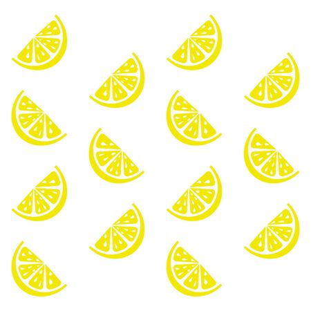 Fresh and juicy lemon on white background. Vector illustration