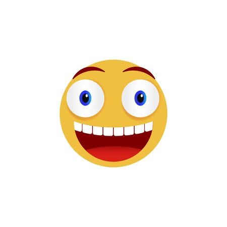 Smiley face. Emoticon, emoji icons isolated on white background. Vector illustration