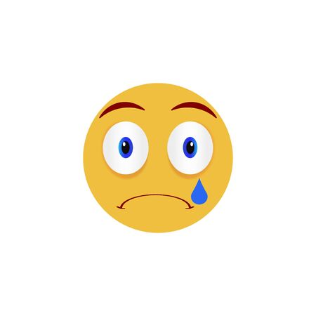 Sad face. Emoticon, emoji icons on white background. Vector illustration