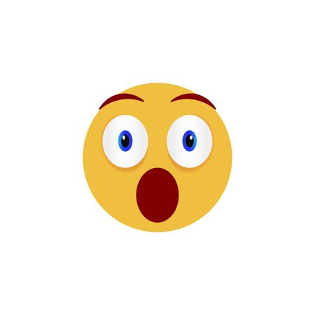 Surprise face. Emoticon, emoji icons isolated on white background. Vector illustration