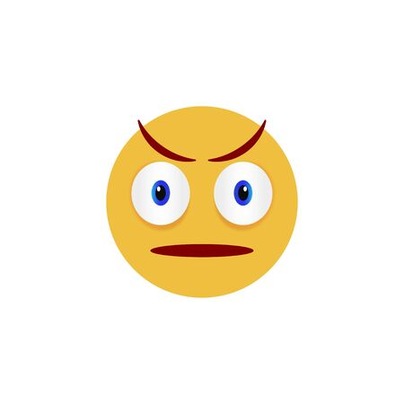 Angry face. Emoticon, emoji icons on white background. Vector illustration
