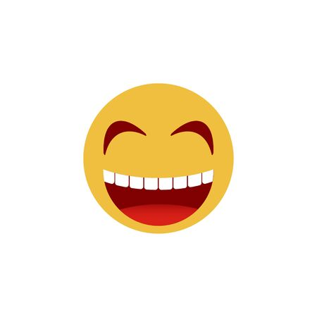 Smiley face. Emoticon, emoji icons isolated on white background. Vector illustration