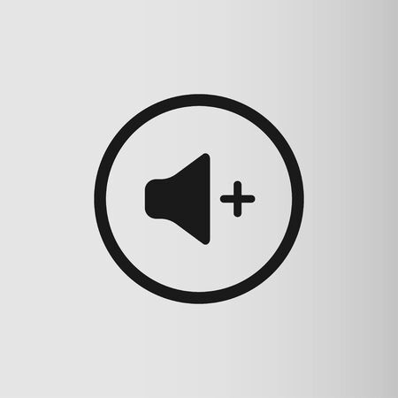 Audio and music speaker volume icon. Flat design. Vector illustration Stock Illustratie