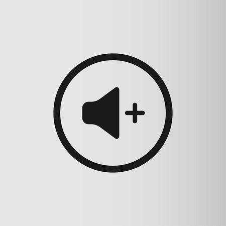 Audio and music speaker volume icon. Flat design. Vector illustration  イラスト・ベクター素材