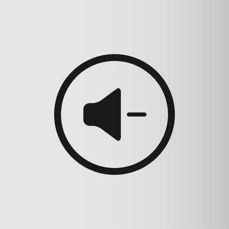 Audio and music speaker volume icon. Flat design. Vector illustration