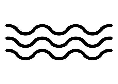Wave water sign. Water form. Vector illustration