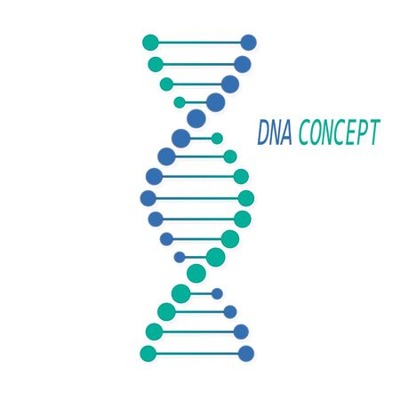 DNA symbol, sign. Deoxyribonucleic acid concept. Vector illustration Stock Illustratie