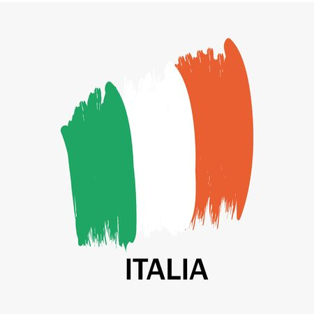 Italian flag on white background. Vector illustration Stock Illustratie