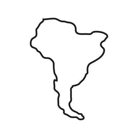 States of America territory on white background. South America. Vector illustration Vector Illustratie