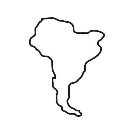 Territoire des États d'Amérique sur fond blanc. Amérique du Sud. Illustration vectorielle Vecteurs