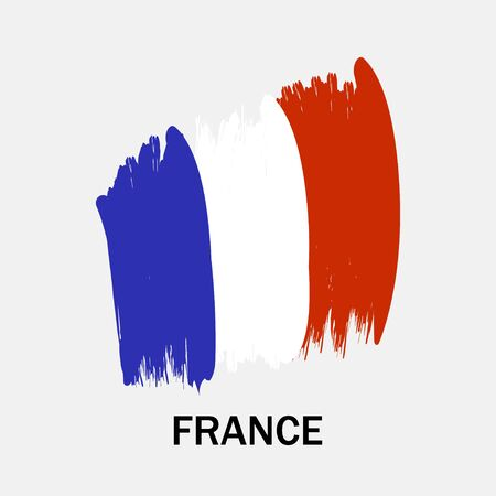 Flag of France on white background. Vector illustration Illustration