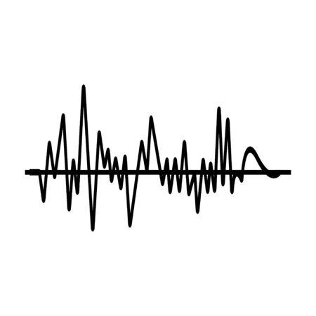 Terremoto. Scala di magnitudo del terremoto Richter. Illustrazione vettoriale