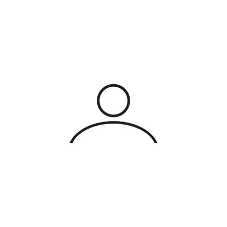 One person silhouette. White background. Vector illustration