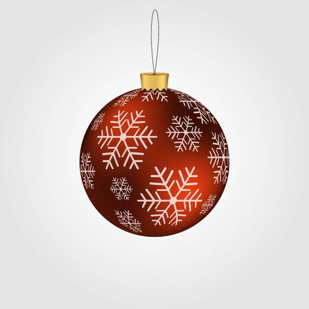 Christmas-tree decorations, present. Christmas toy. Vector illustration Stock Illustratie