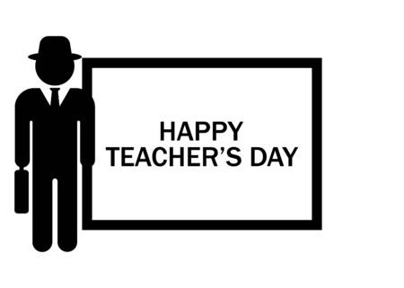 World Teachers' Day. International holiday. Greeting card.