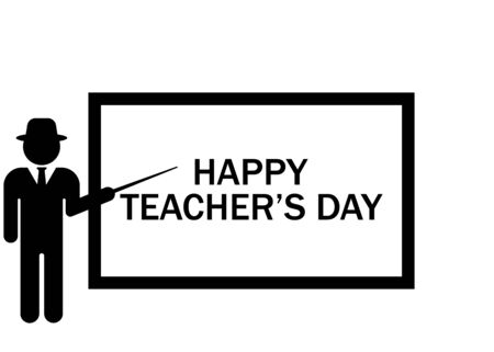 World Teachers Day. Internatioanl holiday. Greeting card. Vector illustration. EPS 10 Ilustrace