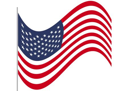 American Flag. Symbol of USA. Vector illustration. EPS 10