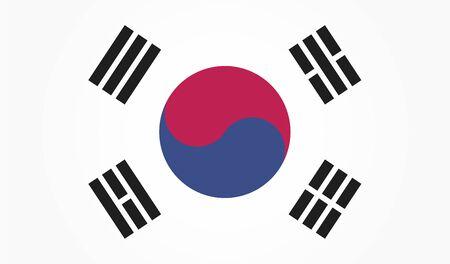 Flag of South Korea. White background. EPS 10 向量圖像