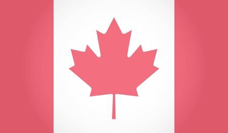 Canadian Flag. Maple Leaf. White background. EPS 10
