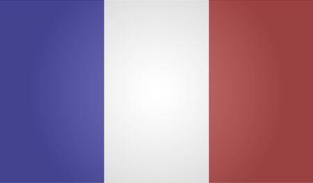Flag of France. White background. EPS 10