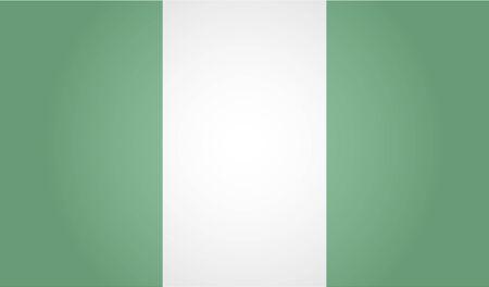 Flag of Nigeria. White background. Vector illustration. EPS 10 일러스트