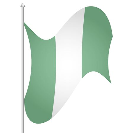 Flag of Nigeria. White background. Vector illustration. EPS 10 Ilustrace