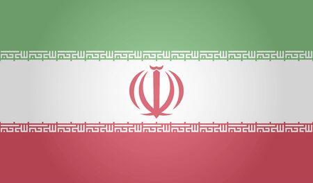 Flag of Iran on white background. Vector illustration. EPS 10 일러스트
