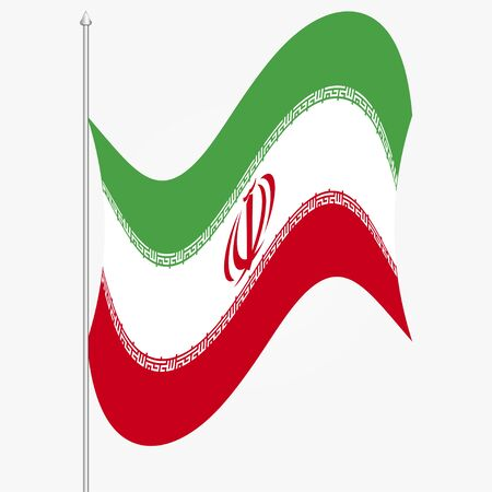 Flag of Iran on white background. Vector illustration. EPS 10 Ilustrace