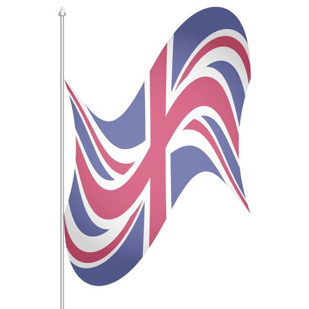 Flag of the United Kingdom. British flag. White background. EPS 10