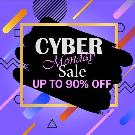 Cyber Monday. Special offers. Sale and Discount. Design template. Vector illustration. EPS 10