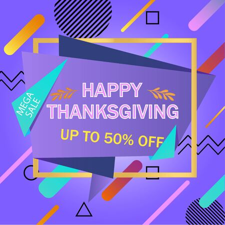 Autumn sale. Thanksgiving special offers. Vector illustration. EPS 10 矢量图像