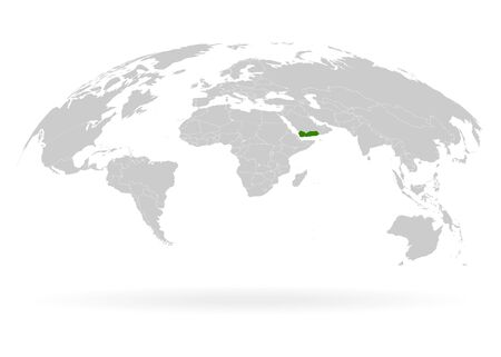 Territory of Yemen. Planet Earth. The Earth, World Map on white background. Vector illustration. EPS 10